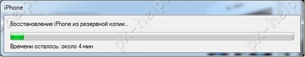 Скриншот Процесс восстановления данных в айфон