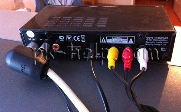 Фото Подключения телевизора и антенны к приставке DVB-T2