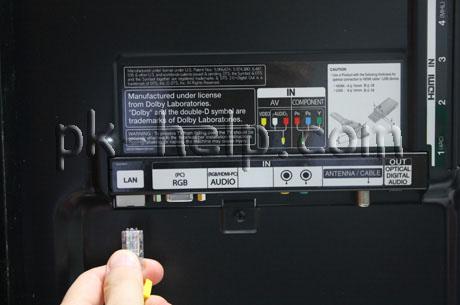 Фотгорафия Подключение сетевого кабеля в телевизор