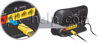 Фото Подключение сетевого кабеля в роутер.