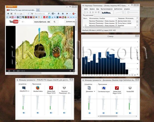 Фото одновременныей просмотр видео и прослушивание с музыки на ТВ подключенного к компьютеру