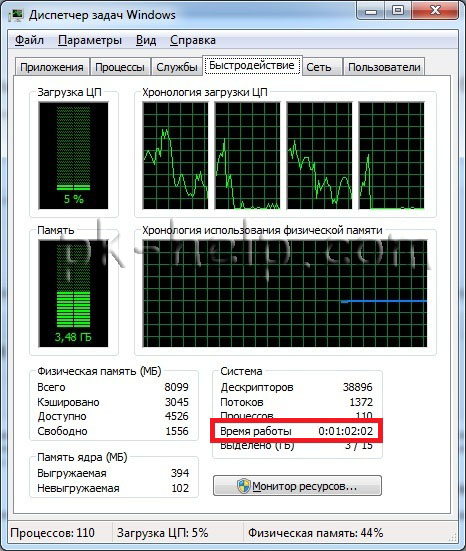 Фото Определяем время загрузки Windows workstation