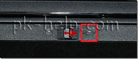 Фото Внешний вид выключателя Wi-Fi в ноутбуке