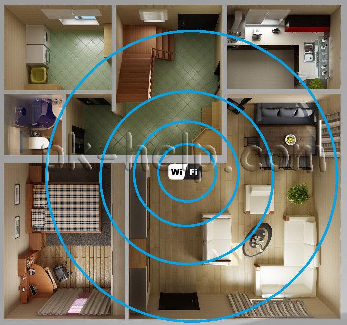 Фото Увеличение сигнала Wi-Fi с помощью изменения расположения роутера