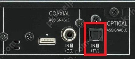 Фото Оптический вход на ресивере