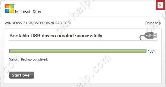Скрин Загрузочная USB флешка Windows10 успешно сделана с помощью Windows USB/DVD Download Tool