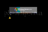 В Windows Server 2003 вместо меню ввода логина и пароля отображается черный экран.
